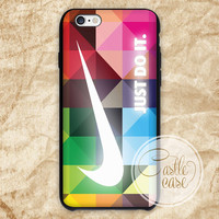 geometric nike just do it iPhone 4/4S, 5/5S, 5C Series Hard Plastic Case