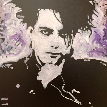 Robert Smith Pop Art Painting The Cure 16x20 Original Oil Painting Wall Decor Wall Art Urban Art