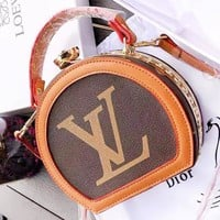 Louis Vuitton LV Fashion New Letter Print Leather Shoulder Bag Women Handbag