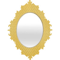 Allyson Johnson Sunny Yellow Dots Baroque Mirror