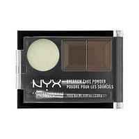 NYX Eyebrow Cake Powder - Dark Brown/ Brown - #ECP02