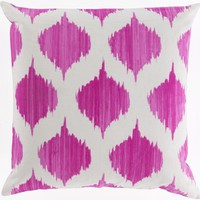 Ogee Throw Pillow Pink, Neutral
