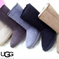 Free shipping-UGG thick warm non-slip high tube snow boots