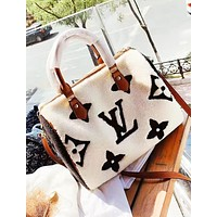 LV Louis Vuitton Fashion New Monogram Fur High quality Shoulder Bag Women Handbag Women