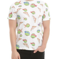 Teenage Mutant Ninja Turtles Pizza Print T-Shirt