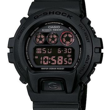 Casio Classic G-Shock Chronograph - Military Stealth Black - Flash Buzzer Alert