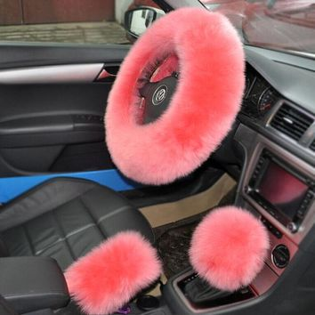 Pure wool car steering wheel cover car accessories Stockings Shoes Dress Bikini bag