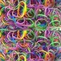 Loom Rubber Bands - Two 600 Packs of Tye Dye Twistz Bandz Refills Value Pack with 50 Pc Clips and Loom Tool Pick - 100% Compatible with Rainbow Loom