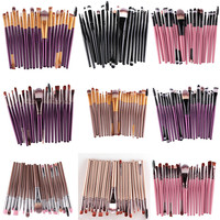 Makeup Brushes 20 Pcs 16 Color Professional Soft Cosmetics Beauty Make up Brushes Set Kabuki Kit Tools maquiagem Makeup Brushes