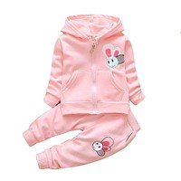 Baby Girl Spring Clothing Sets Toddler Girls Cotton Sport Suit Set Children Kids Casual Clothes Set Baby Clothes