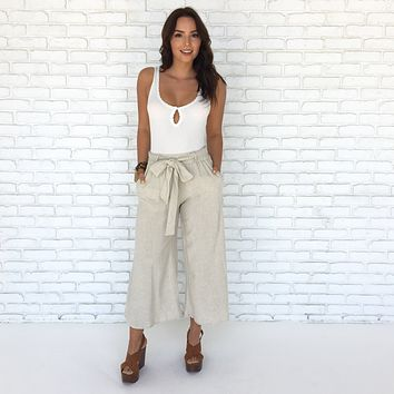Off To Morocco Crop Linen Pants