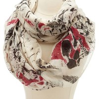 Floral Skull Infinity Scarf: Charlotte Russe