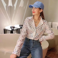 Louis Vuitton LV Fashion Women Long Sleeved Lapel Shirt Top