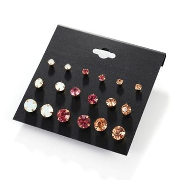 Set Stylish Hot Sale Earrings [132685266964]