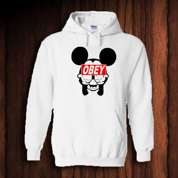 Mickey Mouse obey Popular Hoodie unisex adults Size S to 2XL