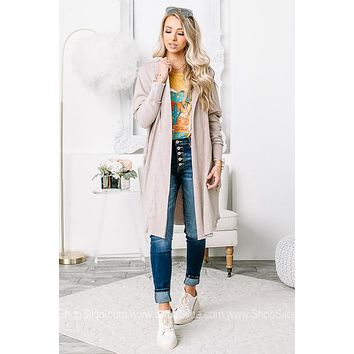 Actively Comfortable Open Cardigan | Blush