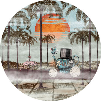 Paula Belle Flores's Alice Goes to California Circle Decal