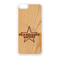 Carved on Wood Effect_Celebrity Hater White Silicon Rubber Case for iPhone 6 by Chargrilled