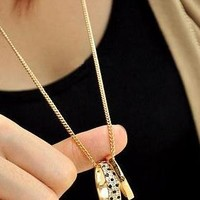 Double ring necklace from Moonlightgirl