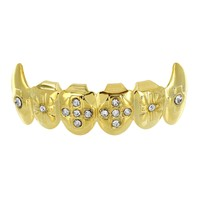 14K Gold Plated Grillz  Bottom Tooth Fang Grillz