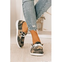 Walking By Camouflage Boat Sneakers (Camo)