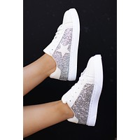 The Shooting Star Sneakers (Silver Glitter)