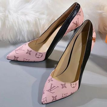 Louis Vuitton Women Fashion Casual High Heels Shoes