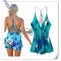 Backless Summer Jumpsuit Romper