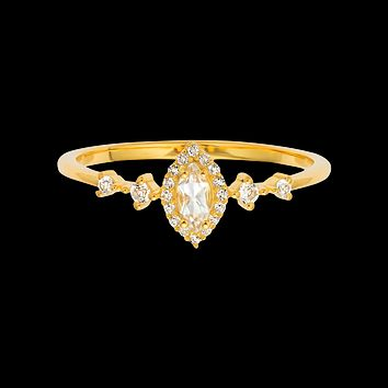 White Topaz Harlow Ring