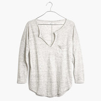 LINEN HEATHERED TELEGRAPH TEE
