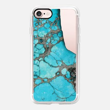 Casetify iPhone 7 Classic Grip Case - Bold Aqua Blue Stone by Lisa Argyropoulos #iPhone 7