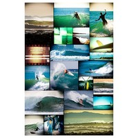 Surf Guy Collage Wall Mural