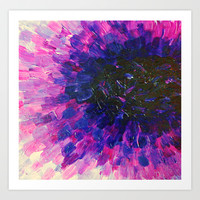 VACANCY - LIMITLESS Bold Eggplant Plum Purple Abstract Acrylic Painting Floral Macro Colorful Void Art Print by EbiEmporium