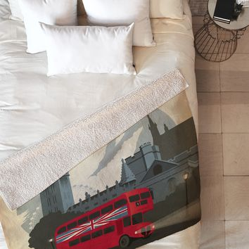 Anderson Design Group London Fleece Throw Blanket