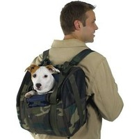 CAMO Backpack Dog Carrier - For dog up to 16 pounds