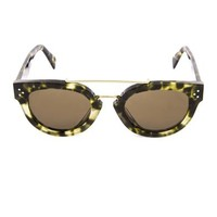 Round-framed acetate sunglasses