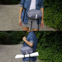 HIP POUCH / fanny pack - yoga mat strap - essential waist bag - bycicle bag - waterproof hip bag - over the shoulder - futuristic hip pack