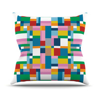 """Project M """"Map"""" Outdoor Throw Pillow"""