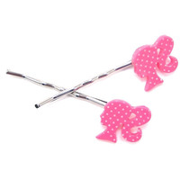 polka dot barbie bobby pins