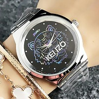 KENZO Fashion New Colorful Tiger Letter Women Men Wristwatch Watch