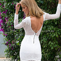 PRE ORDER - FALLING FROM GRACE LACE DRESS (Expected delivery 20th October, 2014) , DRESSES, TOPS, BOTTOMS, JACKETS & JUMPERS, ACCESSORIES, SALE NOTHING OVER $25, PRE ORDER, NEW ARRIVALS, PLAYSUIT, GIFT VOUCHER,,White Australia, Queensland, Brisbane