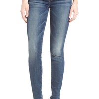 7 For All Mankind® Destroyed Skinny Jeans (Stretch Blue Orchid)   Nordstrom