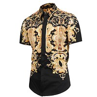 Versace Fashion Casual Shirt Top Tee