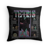 'Tetrominoes' Throw Pillow by likelikes