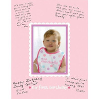 "Amscan 1st Birthday Girl Autograph Photo Matte Party Supplies, 14"" x 11"", Pink"