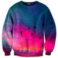 Sunset Birds Crewneck