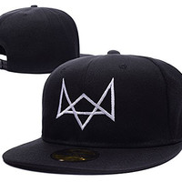 Watch Dogs Fox Logo Adjustable Snapback Embroidery Hats Caps