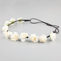 Full Tilt Rose Stationed Headband Ivory One Size For Women 22614216001