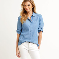 Shop Chambray Button-Down at vineyard vines