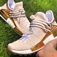 Adidas NMD  & Pharrell Original Trail New fashion letter print couple shoes